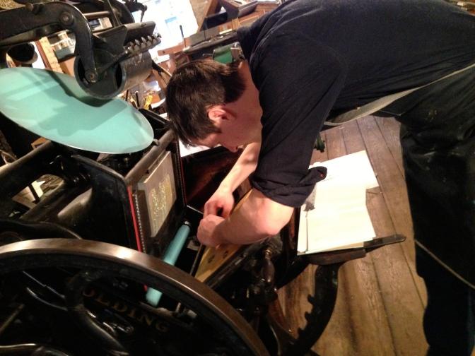 #146. Use your local letterpress shop.